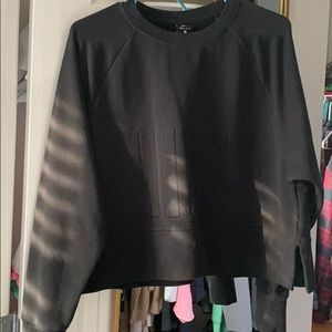 Nike embossed crop sweatshirt